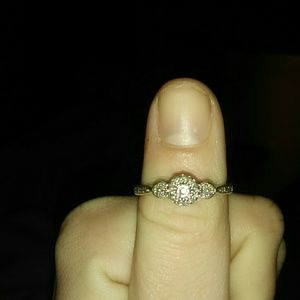 Diamond Silver promise ring